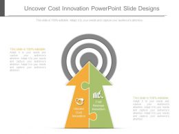 Uncover Cost Innovation Powerpoint Slide Designs