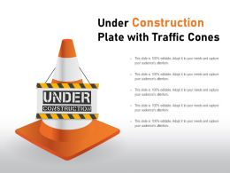 Under Construction Plate With Traffic Cones