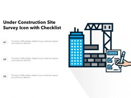 Under Construction Site Survey Icon With Checklist