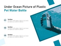 Under Ocean Picture Of Plastic Pet Water Bottle