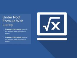 Under Root Formula With Laptop