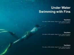 Under Water Swimming With Fins