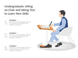 Undergraduate Sitting On Chair And Taking Test To Learn New Skills