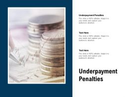 Underpayment Penalties Ppt Powerpoint Presentation Professional Graphics Pictures Cpb