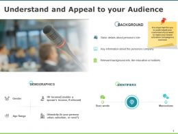 Understand And Appeal To Your Audience Gears Checklist Ppt Powerpoint Presentation Infographics Guide