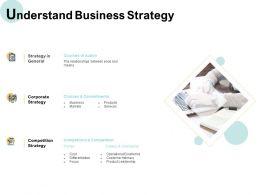 Understand Business Strategy Corporate Ppt Powerpoint Presentation Slides