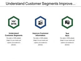 Understand Customer Segments Improve Customer Information Broaden Skills