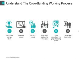 Understand The Crowdfunding Working Process Ppt Sample