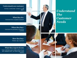 Understand The Customer Needs Powerpoint Slide Graphics