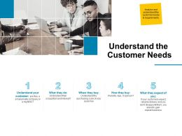 Understand The Customer Needs Ppt Powerpoint Presentation Ideas Design