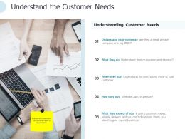 Understand The Customer Needs Ppt Powerpoint Presentation Pictures