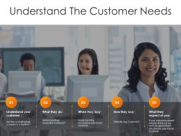 Understand The Customer Needs Template Ppt Examples Slides