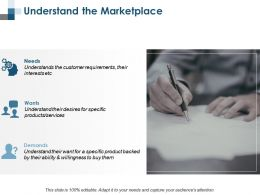 Understand The Marketplace Marketing Ppt Summary Background Designs