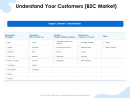Understand Your Customers B2c Market Lifestyle Ppt Presentation Slide