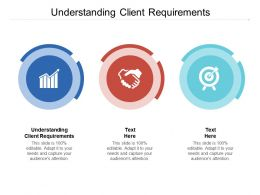 Understanding Client Requirements Ppt Powerpoint Presentation Model Tips Cpb