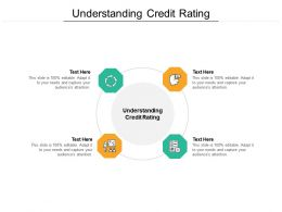 Understanding Credit Rating Ppt Powerpoint Presentation Icon Slide Download Cpb
