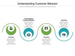 Understanding Customer Behavior Ppt Powerpoint Presentation Infographics Mockup Cpb