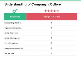 Understanding Of Companys Culture Ppt Infographics Tips