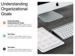 Understanding Organisational Goals Ppt Powerpoint Presentation Portfolio Designs Cpb