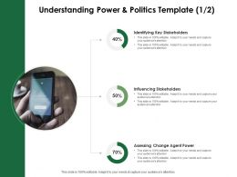 Understanding Power And Politics Template Influencing Stakeholders Ppt Powerpoint Diagrams