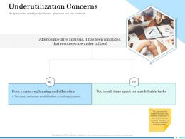 Underutilization Concerns Allocation Ppt Template Microsoft