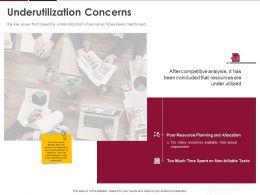 Underutilization Concerns Ppt Powerpoint Presentation Inspiration Slide