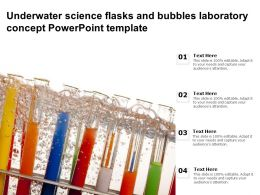 Underwater Science Flasks And Bubbles Laboratory Concept Powerpoint Template