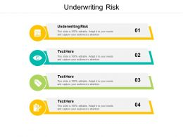 Underwriting Risk Ppt Powerpoint Presentation Icon Inspiration Cpb