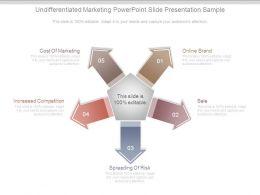 Undifferentiated Marketing Powerpoint Slide Presentation Sample