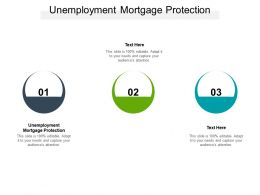 Unemployment Mortgage Protection Ppt Powerpoint Presentation Gallery Smartart Cpb