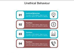 Unethical Behaviour Ppt Powerpoint Presentation Model Slides Cpb