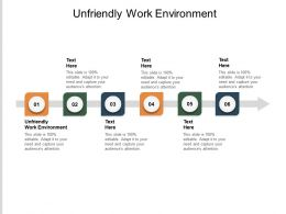 Unfriendly Work Environment Ppt Powerpoint Presentation Infographics Pictures Cpb