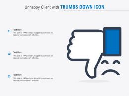 Unhappy Client With Thumbs Down Icon