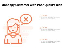 Unhappy Customer With Poor Quality Icon