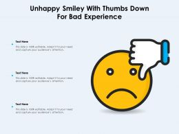 Unhappy Smiley With Thumbs Down For Bad Experience