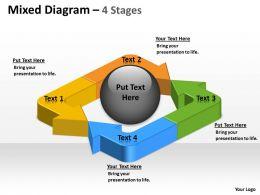 Unidirectional Mixed Arrow Diagram