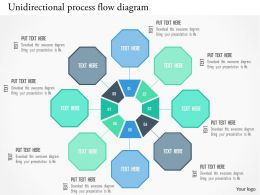 Unidirectional Process Flow Diagram Flat Powerpoint Design
