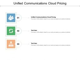 Unified Communications Cloud Pricing Ppt Powerpoint Presentation Pictures Model Cpb