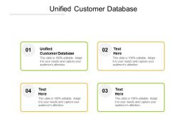Unified Customer Database Ppt Powerpoint Presentation Icon Layout Ideas Cpb