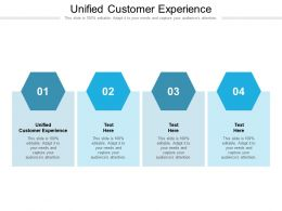 Unified Customer Experience Ppt Powerpoint Presentation Rules Cpb