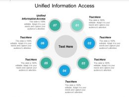 Unified Information Access Ppt Powerpoint Presentation Infographics Shapes Cpb