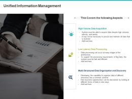 Unified Information Management Ppt Powerpoint Presentation File Design Inspiration