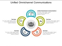 Unified Omnichannel Communications Ppt Powerpoint Infographics Gridlines Cpb