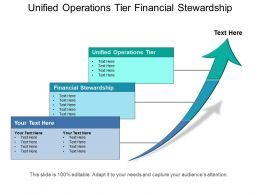 Unified Operations Tier Financial Stewardship Performance Measures Target