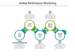 Unified Performance Monitoring Ppt Powerpoint Presentation Icon Portrait Cpb