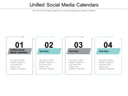 Unified Social Media Calendars Ppt Powerpoint Presentation Themes Cpb