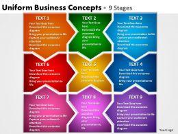 uniform business concepts 9 stages powerpoint templates graphics slides 0712