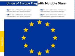 Union Of Europe Flag With Multiple Stars