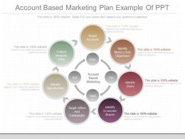 Unique Account Based Marketing Plan Example Of Ppt