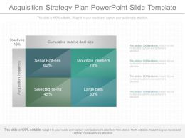 Unique Acquisition Strategy Plan Powerpoint Slide Template